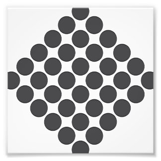 Tiled DarkGrey Dots Photo
