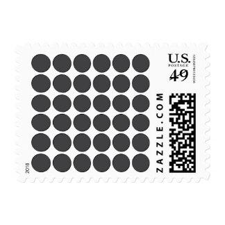 Tiled DarkGrey Dots Postage