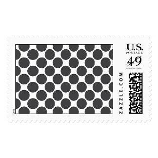 Tiled DarkGrey Dots Postage Stamp