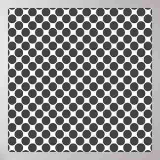 Tiled DarkGrey Dots Print