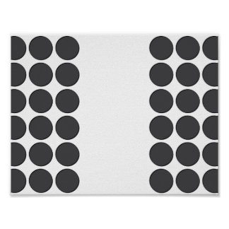 Tiled DarkGrey Dots Posters