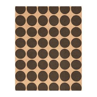 Tiled DarkGrey Dots Cork Paper