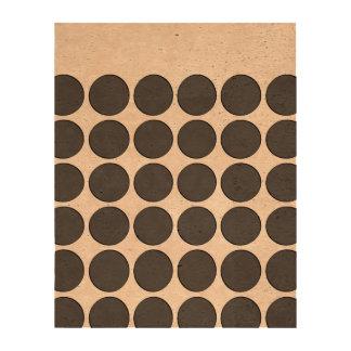 Tiled DarkGrey Dots Queork Photo Print