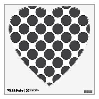 Tiled DarkGrey Dots Wall Skins