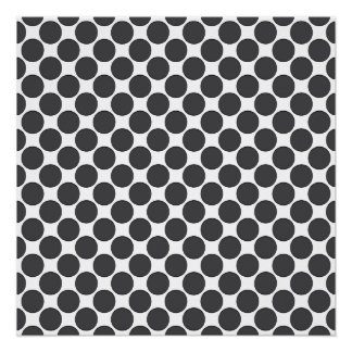 Tiled DarkGrey Dots Perfect Poster