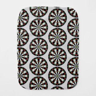 Tiled Darts Target Pattern Baby Burp Cloth