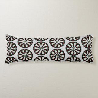 Tiled Darts Target Pattern Body Pillow