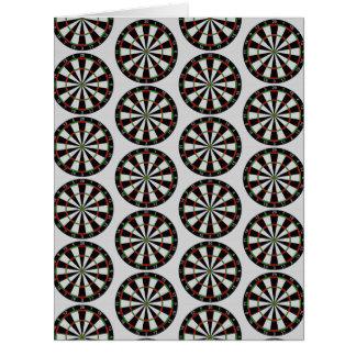 Tiled Darts Target Pattern Card
