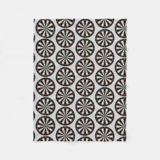 Tiled Darts Target Pattern Fleece Blanket