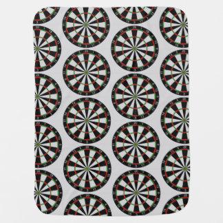 Tiled Darts Target Pattern Swaddle Blanket