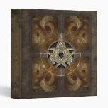 """Tiled Fractal Pentacle Book of Shadows 1"""" Binder"""
