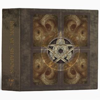 """Tiled Fractal Pentacle Book of Shadows 2"""" Binder"""