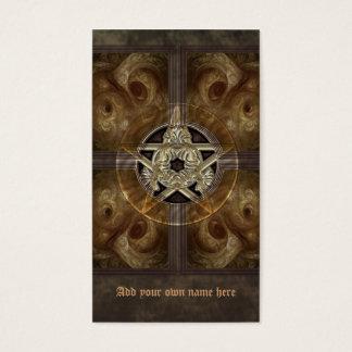 Tiled Fractal Pentacle Business Card