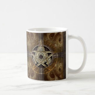 Tiled Fractal Pentacle Coffee Mug