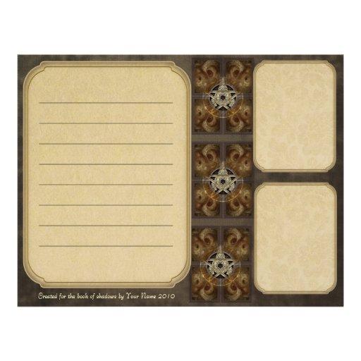Tiled Fractal Pentacle Keepsake Paper Letterhead