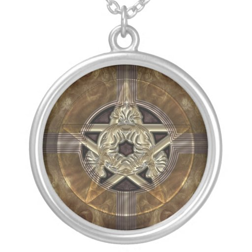 Tiled Fractal Pentacle Custom Necklace
