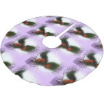 Tiled Frosty Purple Holly Brushed Polyester Tree Skirt