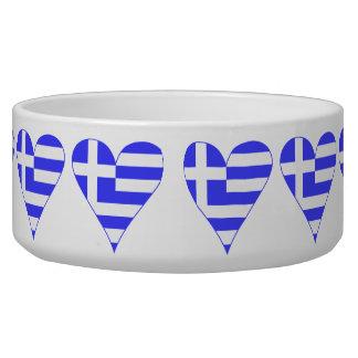 Tiled Greek Flag Heart Funky Bowl