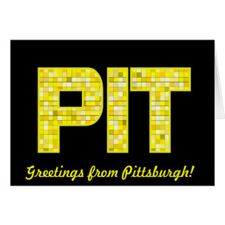 Tiled Greetings from Pittsburgh! Stationery Note Card