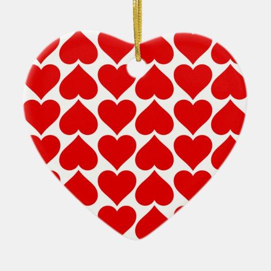 Tiled Hearts Christmas Ornament