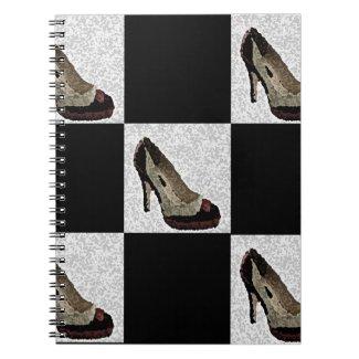 Tiled High Heels Spiral Note Book
