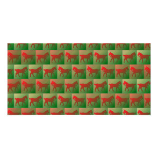 Tiled horses pattern card