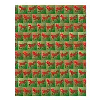 """Tiled horses pattern 8.5"""" x 11"""" flyer"""