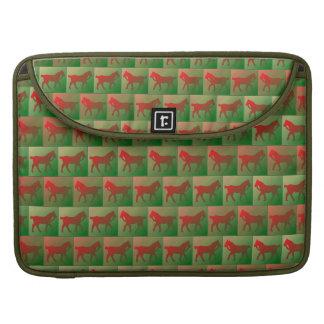 Tiled horses pattern MacBook pro sleeve