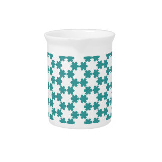 Tiled Koch Snowflakes Drink Pitcher