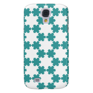 Tiled Koch Snowflakes Galaxy S4 Cover