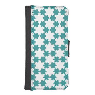 Tiled Koch Snowflakes iPhone 5 Wallet Case