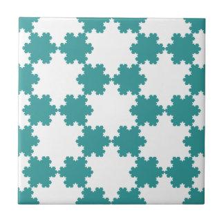 Tiled Koch Snowflakes Tile
