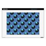 "Tiled ladybugs 15"" laptop decal"