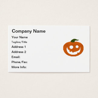 Tiled Mosaic Happy Pumpkin JackOLantern Business Card