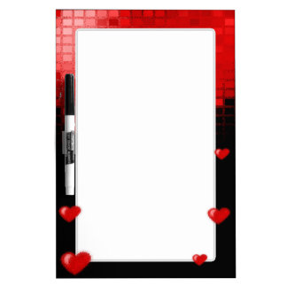 Tiled Mosaic Heart (Bright Red) Dry-Erase Board