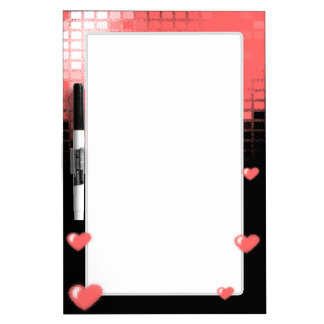 Tiled Mosaic Hearts (Pink) Dry-Erase Board