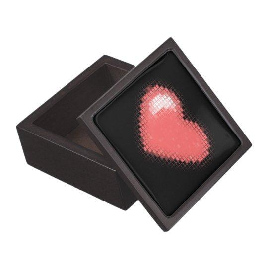 Tiled Mosaic Hearts (Pink) Keepsake Box