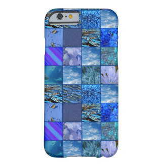 Tiled Mosaic in Blues Photography & Design Pattern Barely There iPhone 6 Case