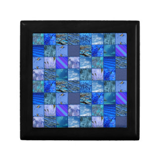 Tiled Mosaic in Blues Photography & Design Pattern Gift Box