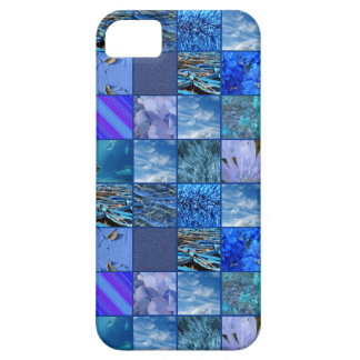 Tiled Mosaic in Blues Photography & Design Pattern iPhone SE/5/5s Case