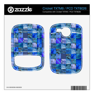 Tiled Mosaic in Blues Photography & Design Pattern Decals For Cricket TXTM8
