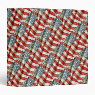 """Tiled Pattern American Flag 1.5"""" Photo Album 3 Ring Binder"""