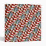 """Tiled Pattern American Flag 1"""" Photo Album Binders"""