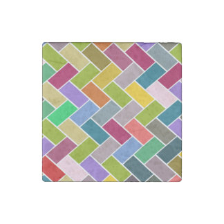 Tiled Pattern Colourful Mosaic Stone Magnet