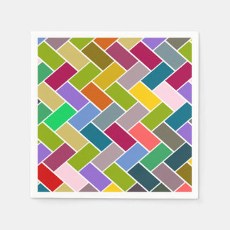 Tiled Pattern Colourful Mosaic Napkin