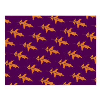 """""""Tiled Pin Oak on Purple"""" Country Roads Postcard"""