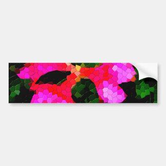 Tiled Pink Azalea Flowers Bumper Sticker