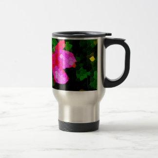 Tiled Pink Azalea Flowers Travel Mug