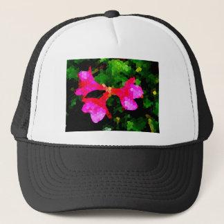 Tiled Pink Azalea Flowers Trucker Hat