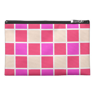 Tiled Pink Pattern Travel Accessory Bag